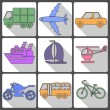 Transport Icons Collection. Vector illustration. — Stock Vector #58766101