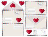 Envelope with heart, vector illustration — Stok Vektör