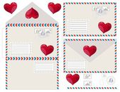 Envelope with heart, vector illustration — Stockvector