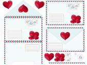 Envelope with heart, vector illustration — Vettoriale Stock