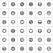 Basic icons set. Vector Illustration — Stock Vector