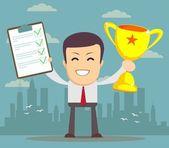 Winner businessman — Stock Vector