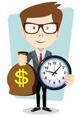 Money is time. Time management — Stock Vector