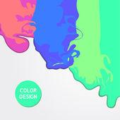矢量抽象色彩飞溅设计. — 图库矢量图片