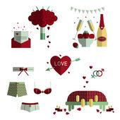 Love icon set — Vettoriale Stock