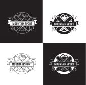 Black sport label set. — Stockvector