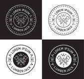 Lumberjack label design — Wektor stockowy