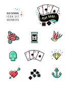Tattoo icon set — Stock Vector
