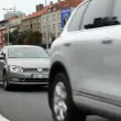 City urban street with cars traffic jam timelapse shot form the front — Stock Video #51973075