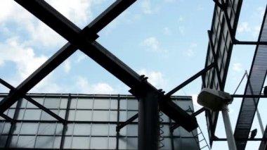 Big billboards - blue sky — Stockvideo