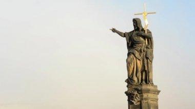 Historical statue - jesus christ (religion - christianity) — Stock Video