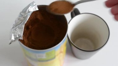 Preparation of coffee in home — Stock Video