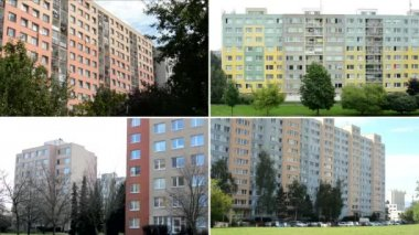 4K compilation (montage) - buildings - home - high-rise block of flats - nature — Vídeo stock