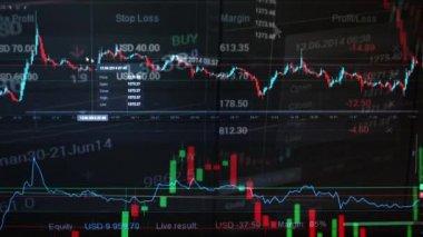 Financial market (exchange) - graph — Stock Video
