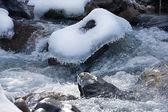 Ice waterfall — Stock Photo