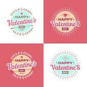 Valentinstag Vektor Illustrationen und Typografie-Elemente. — Stockvektor