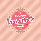 Happy Valentines day card design. 14 february. I love you. Vector background. — 图库矢量图片