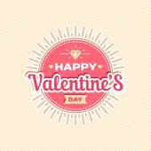 Happy Valentines day card design. 14 february. I love you. Vector background. — Stock Vector