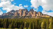Beautiful Castle Mountain, Canada — Stock Photo