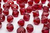 Macro Shot of A Collection Of Red Beads — Stock Photo