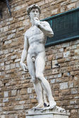 Copy of Michelangelo's David, Piazza della Signoria, Florence — Stock Photo