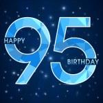 95 Year birthday, 95th anniversary polygon emblem — Stock Vector #52263701