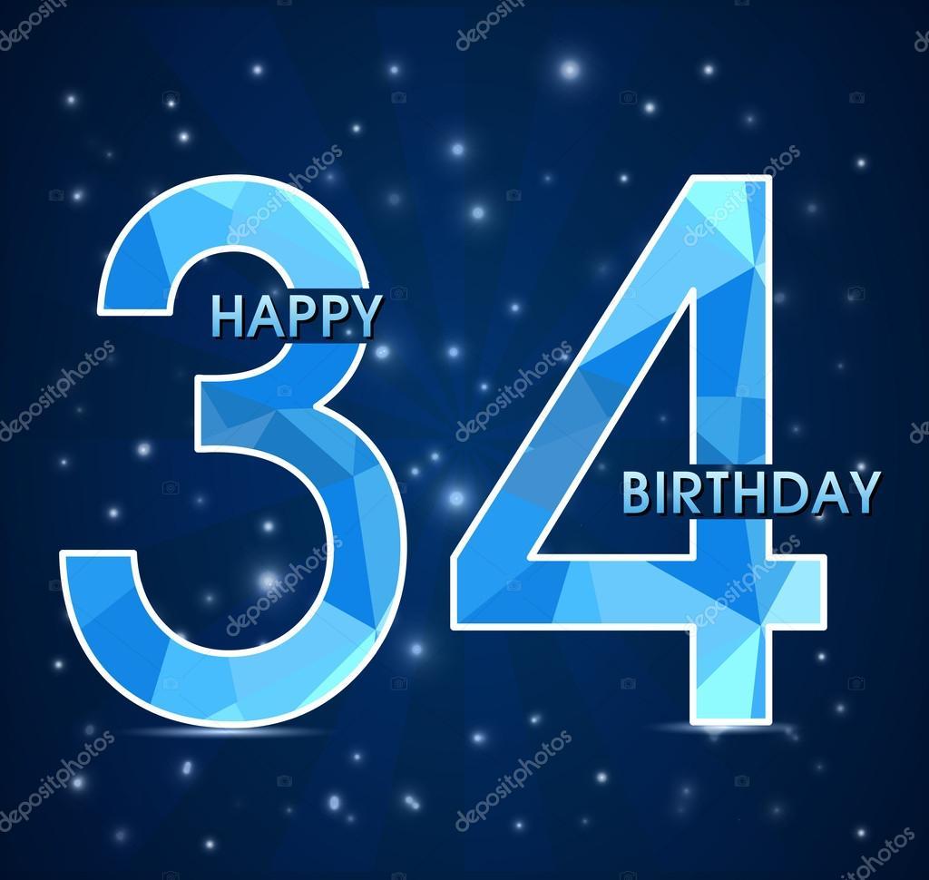 Поздравления с днем рождения с 34 летием женщине
