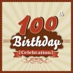 Years celebration, 24th happy birthday retro style card — Stock Vector #52705891