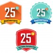 25th anniversary decorative emblem — Vetorial Stock  #58258431