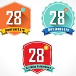 28th anniversary decorative emblem — Stockvektor  #58258451