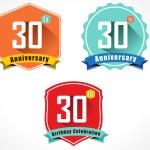 30th anniversary decorative emblem — Stock Vector #58258455