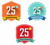 25th anniversary decorative emblem — Stock Vector