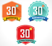 30th anniversary decorative emblem — Stockvektor