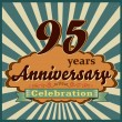 95 years anniversary — Stock Vector #59444485