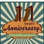 11 years anniversary — Stock Vector #59444909