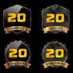 20 year birthday celebration — Stock Vector #59445275