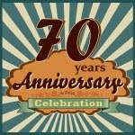 70 years anniversary — Stock Vector #59445311