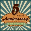 5 years anniversary — Stock Vector #59445481