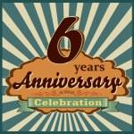 6 years anniversary — Stock Vector #59445491