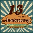 13 years anniversary — Stock Vector #59445547