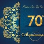 70 year anniversary — Stock Vector #59445691