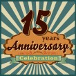 15 years anniversary — Stock Vector #59445759