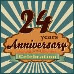 24 years anniversary — Stock Vector #59446011