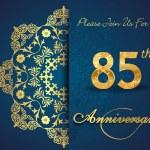 85 year anniversary — Stock Vector #59446307