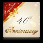 40 year anniversary celebration — Stock Vector #59446407