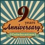 9 years anniversary — Stock Vector #59446465