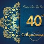 40 year anniversary — Stock Vector #59446977