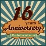 16 years anniversary — Stock Vector #59447385