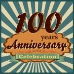 100 years anniversary — Stock Vector #59447555