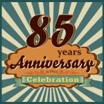 85 years anniversary — Stock Vector #59448057